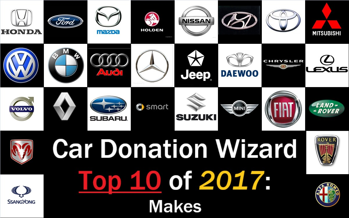 Car Donation Wizard Top 10 Brands Donated To Charity In 2017