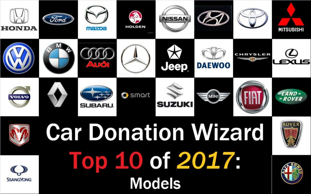 Car Donation Wizard - Top 10 Most Common Car Donations in 2017