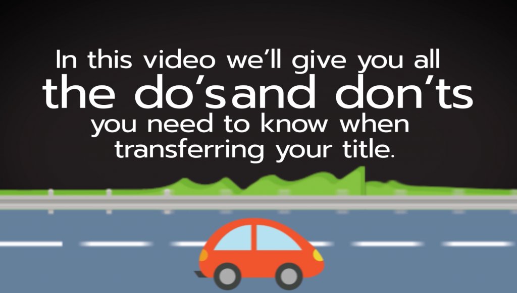 car title transfer how-to video helps answer questions on transferring a car title during the car donation process