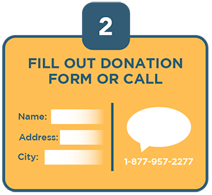 fill out donation form or call