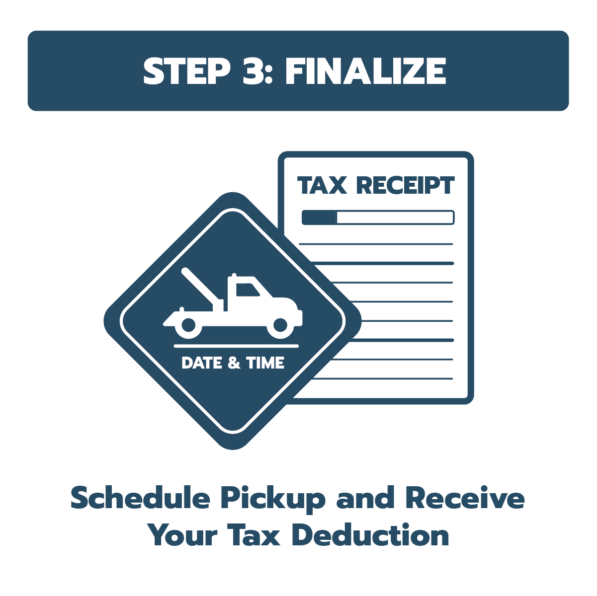 schedule pickup and get a tax deduction