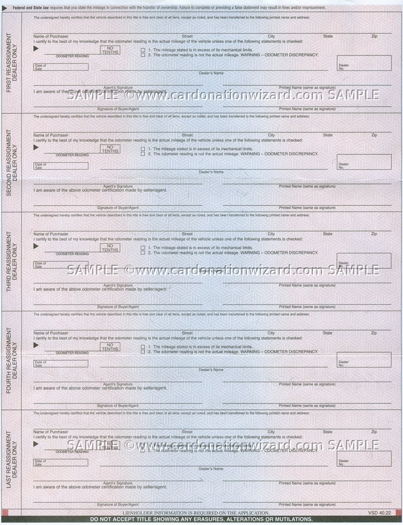 Application For Texas Certificate Of Title Trailer